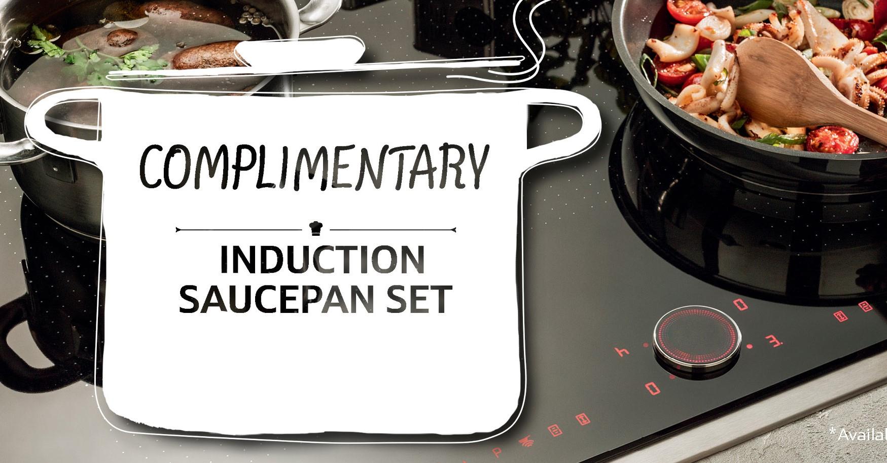 free induction saucepan set